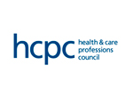 Logos of The Health and Care Professions Council.